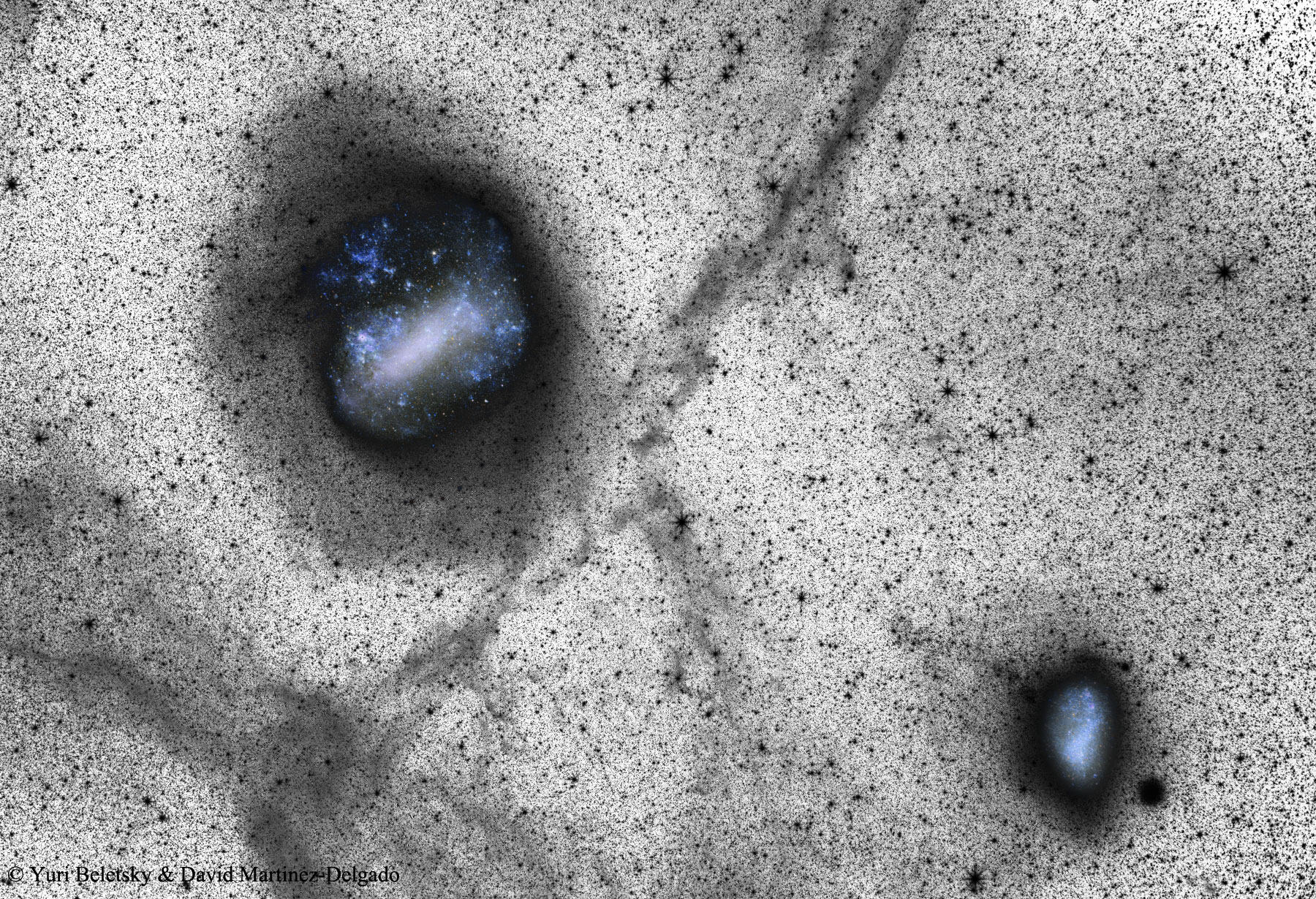 A large Magellanic cloud could swallow a nearby galaxy