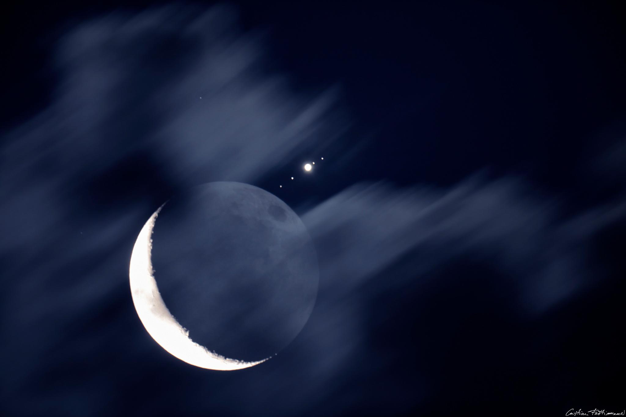 2016 July 10 - Moon Meets Jupiter