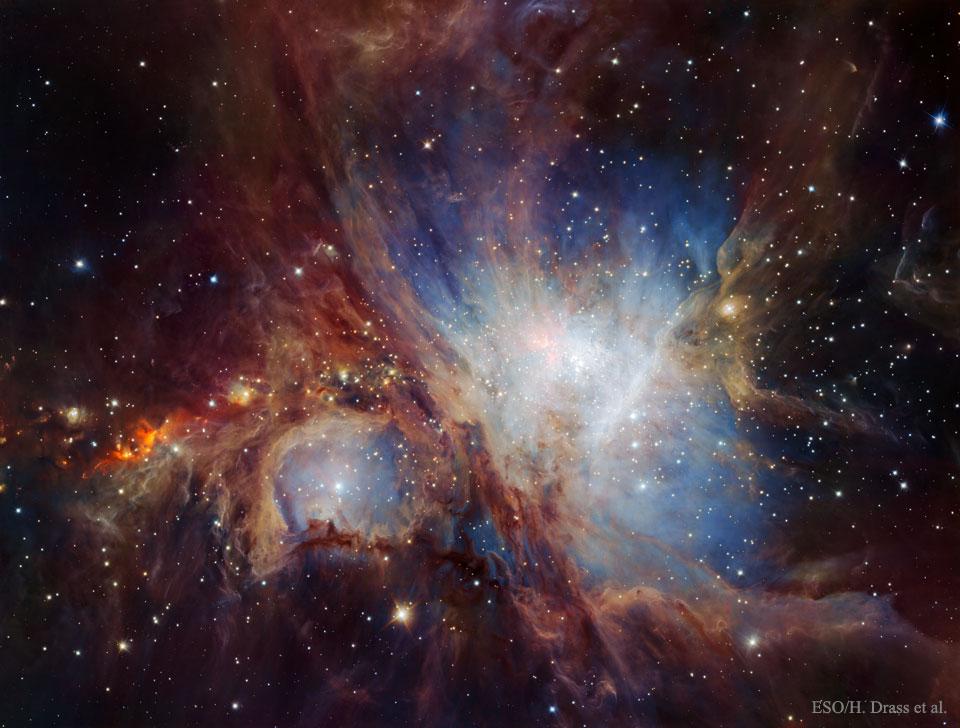 La nebulosa de Orión en infrarrojo del HAWK-I
