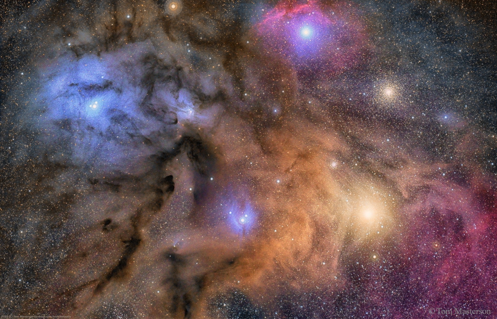 Apod 2016 July 5 The Colorful Clouds Of Rho Ophiuchi