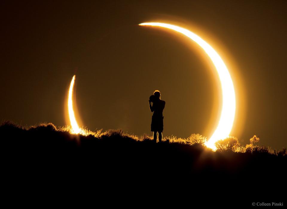 Eclipse solar anular sobre Nuevo México
