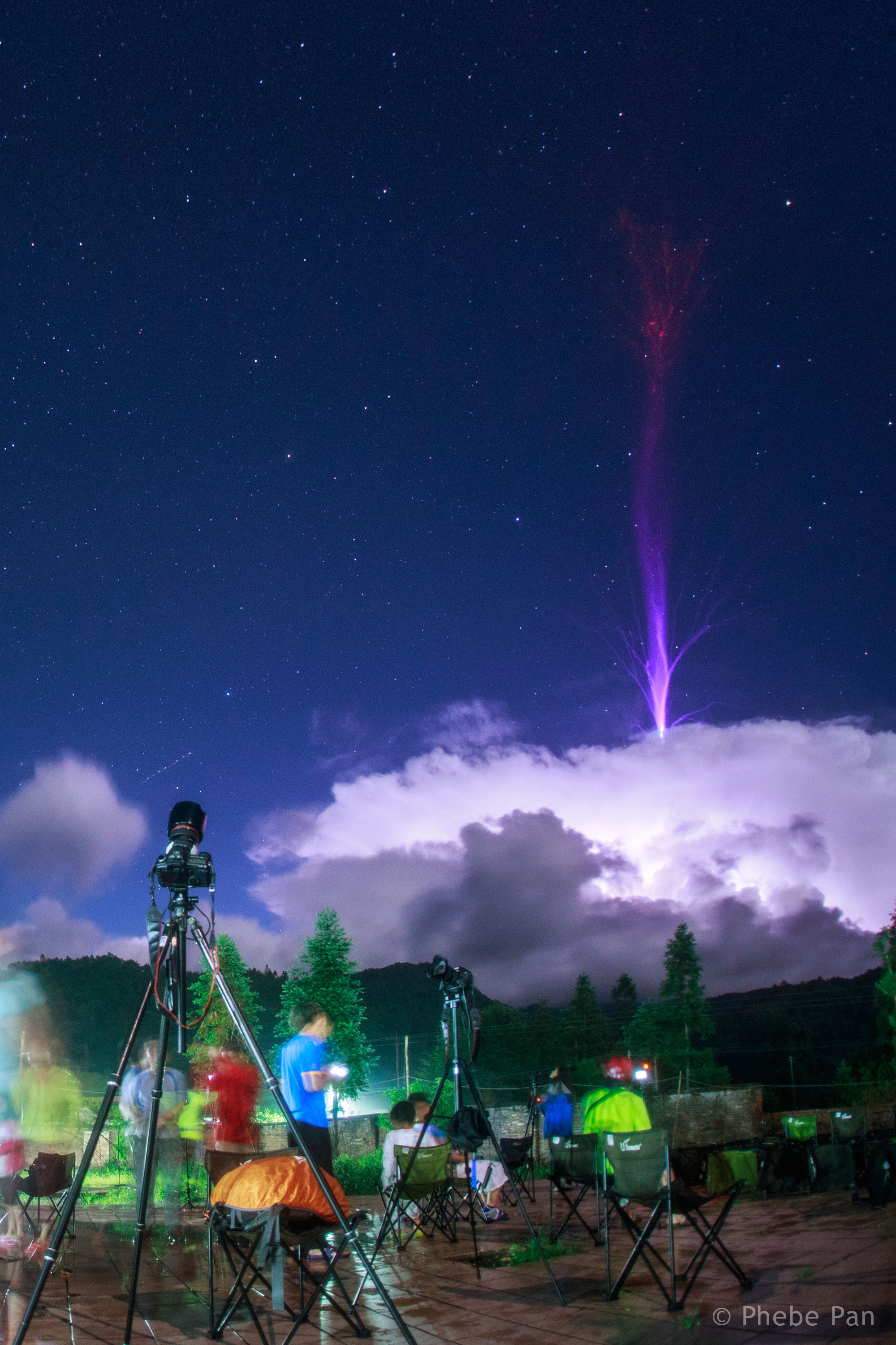 2016 August 23 - Gigantic Jet Lightning over China