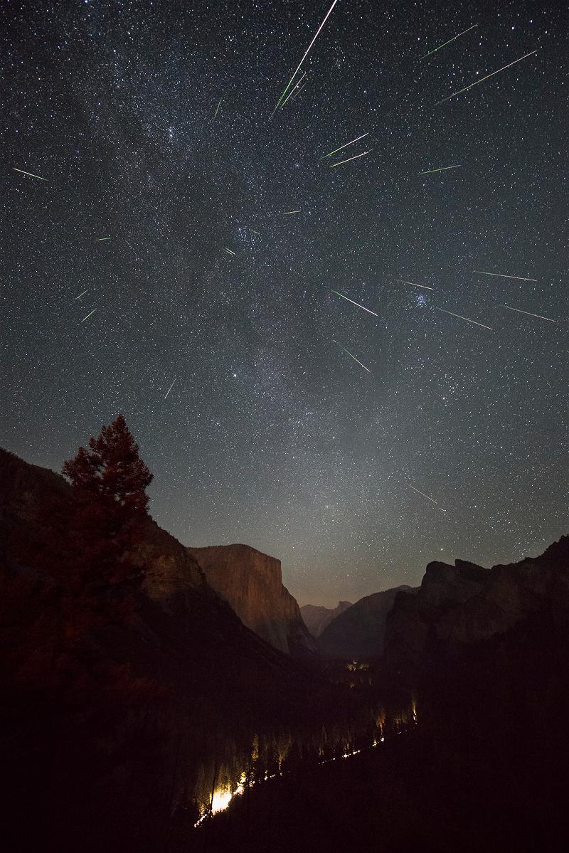 Noche de Perseidas en Yosemite
