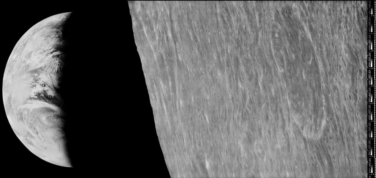 Puesta de la Tierra desde la Lunar Orbiter