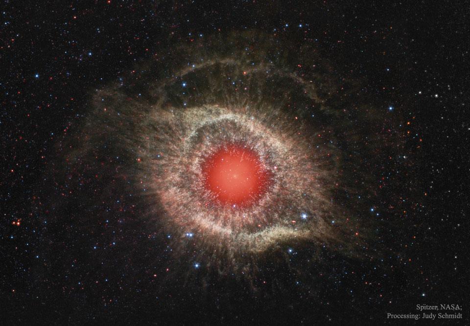La nebulosa Hélice en infrarrojo