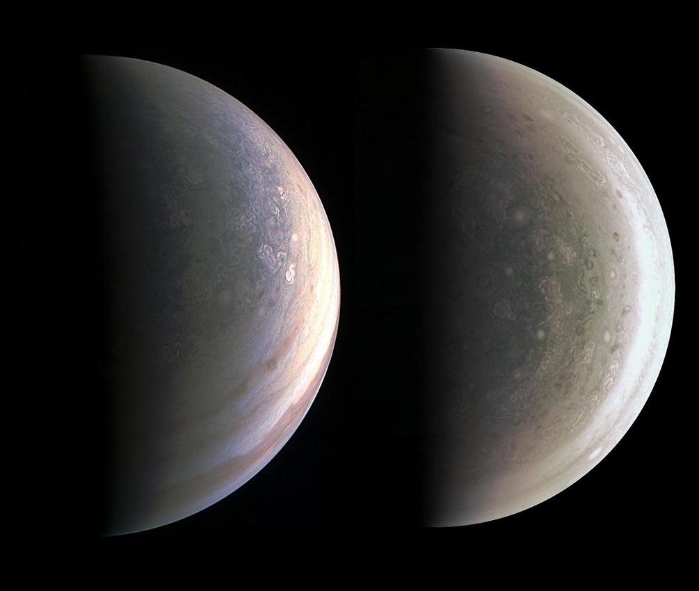 El Norte y el Sur de Júpiter
