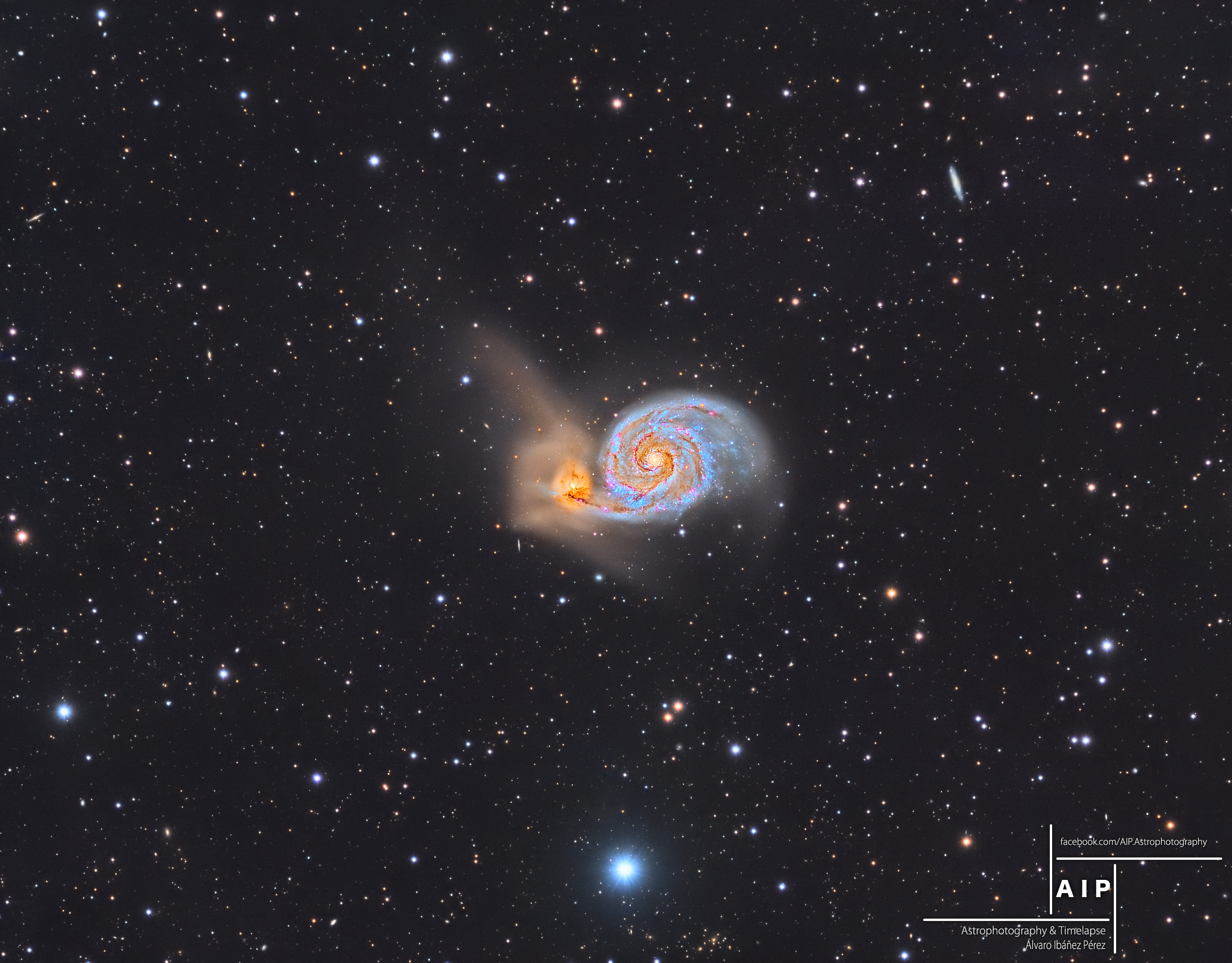 2016 September 6 - The Whirlpool Galaxy and Beyond
