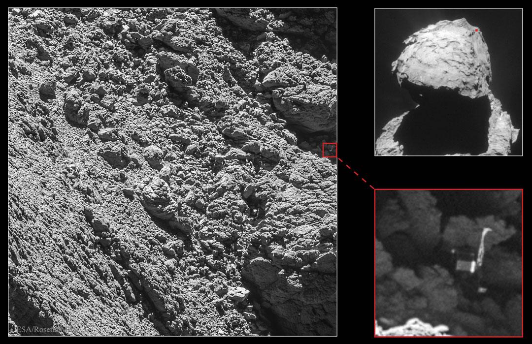 Hallado el módulo Philae al cometa 67P