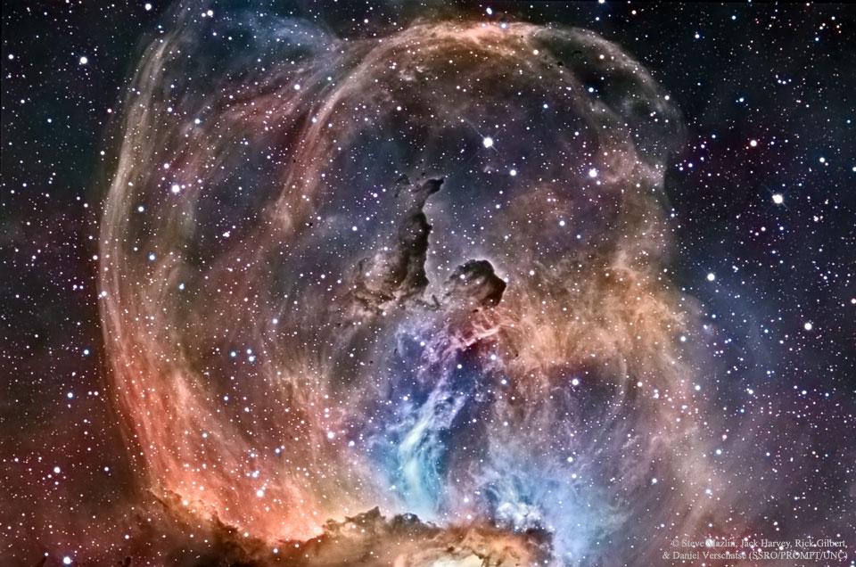 NGC 3576: la nebulosa de la estatua de la Libertad