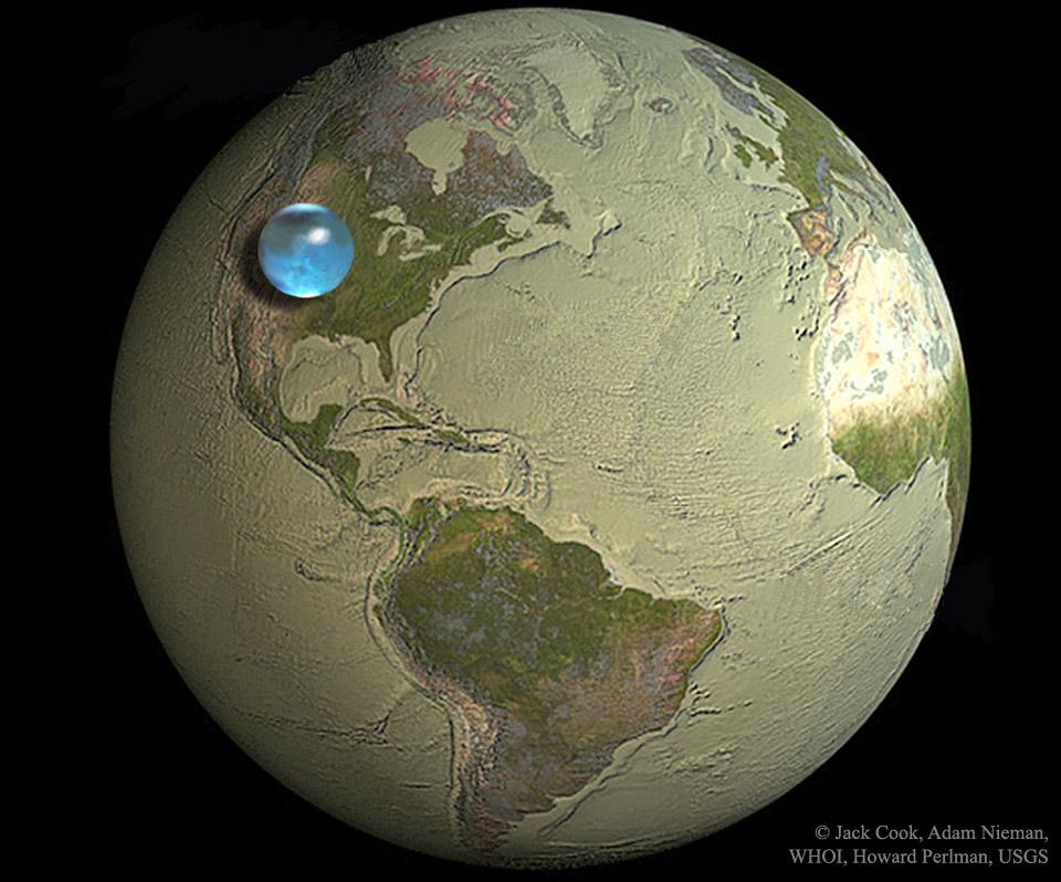 Toda el agua de la Tierra