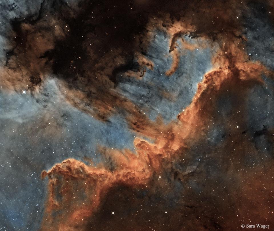 El muro Cygnus de formación estelar