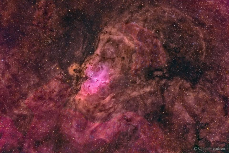 El nido de la nebulosa del Águila