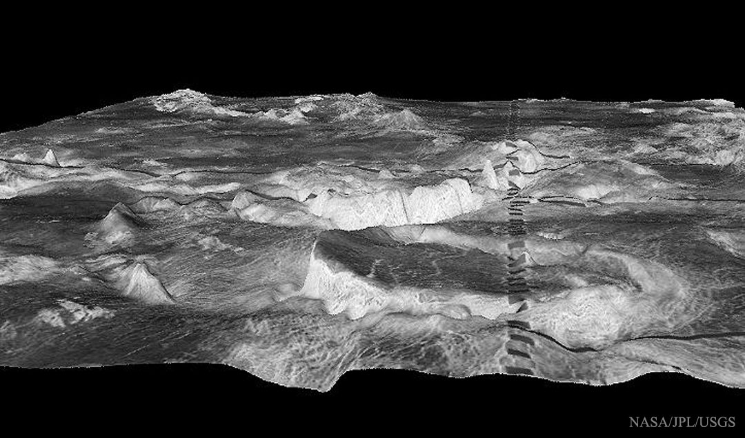 Montañas cilíndricas de Venus