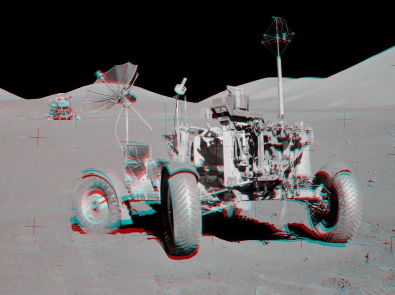 Anaglifo del lugar VIP del Apolo 17
