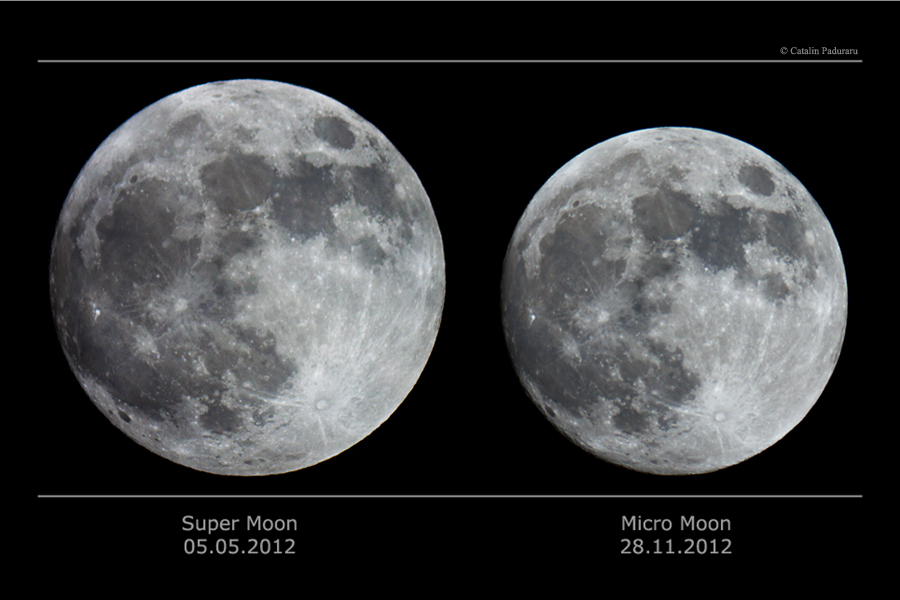 Supermoon Vs Full Moon >> APOD: 2016 November 13 - Super Moon vs Micro Moon