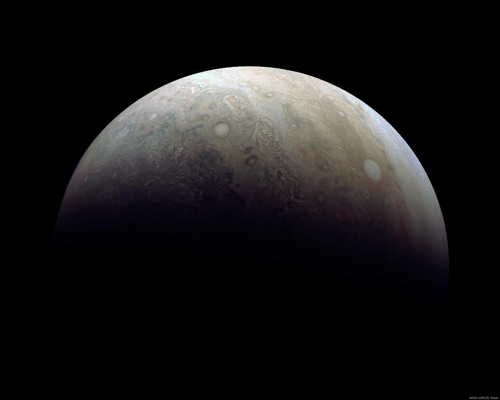 El sur de Júpiter desde el Perijove 3