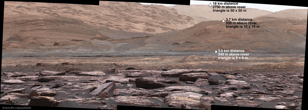 Curiosity sondea el Lower Mount Sharp de Marte