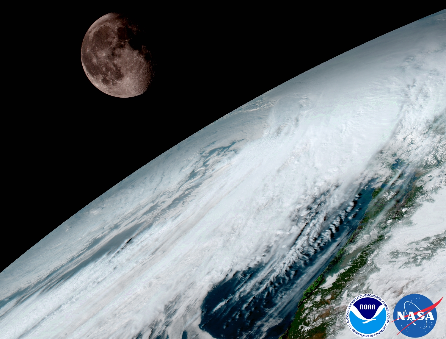 APOD January GOES Moon Over Planet Earth - Satellite pictures of earth