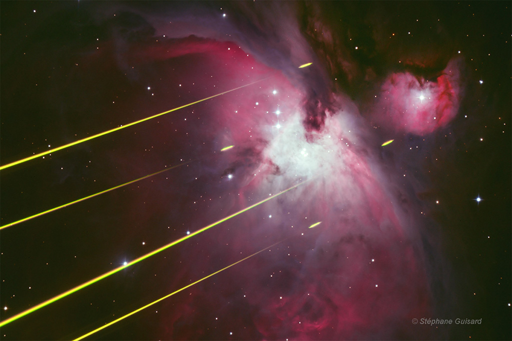 Nebula with Laser Beams