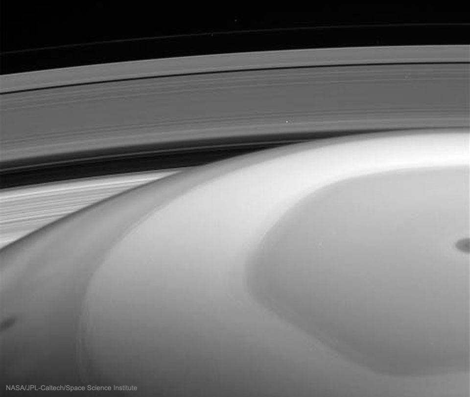 This is what Saturn looks like from inside the rings.