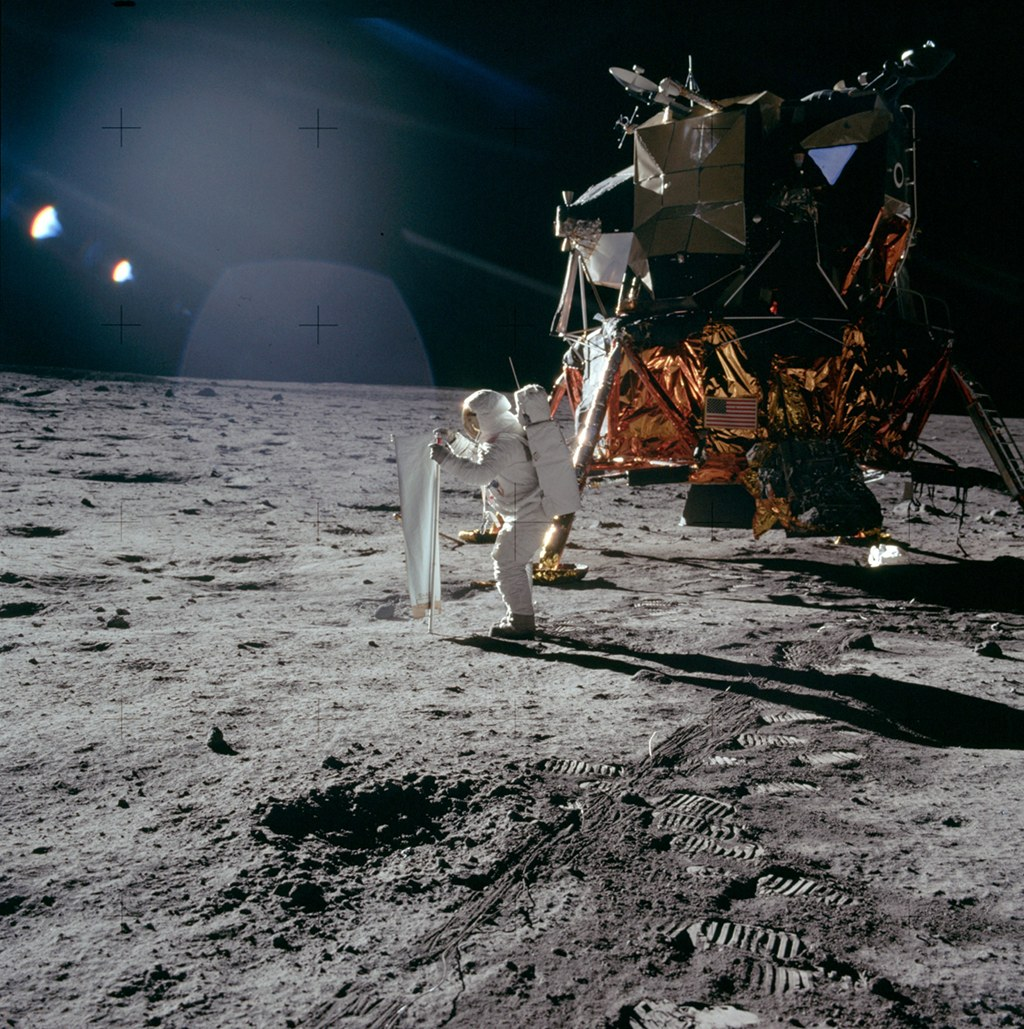 Apollo 11: Catching Some Sun