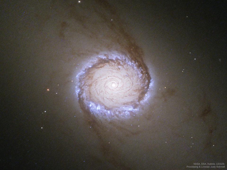 Spirální galaxie NGC 1512: Prstenec kolem jádra