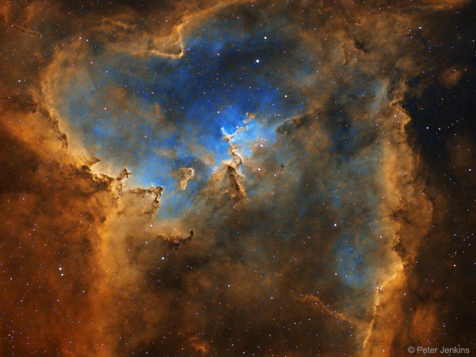 Apod 2017 August 27 The Heart Nebula In Hydrogen