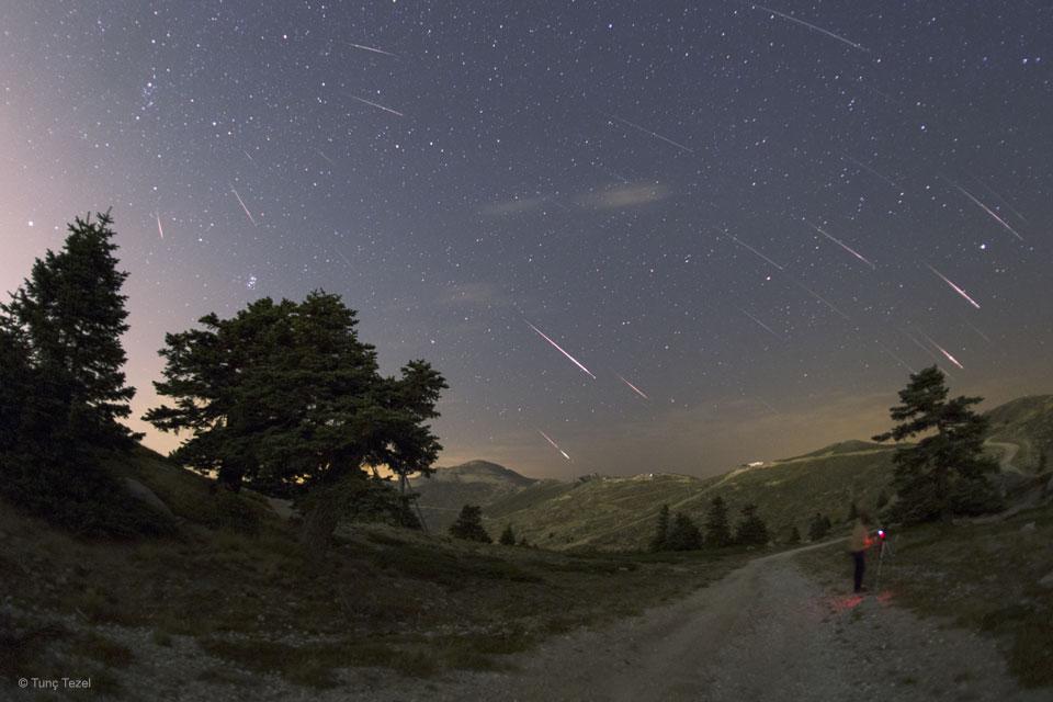Meteoros Perseidas sobre Turquía