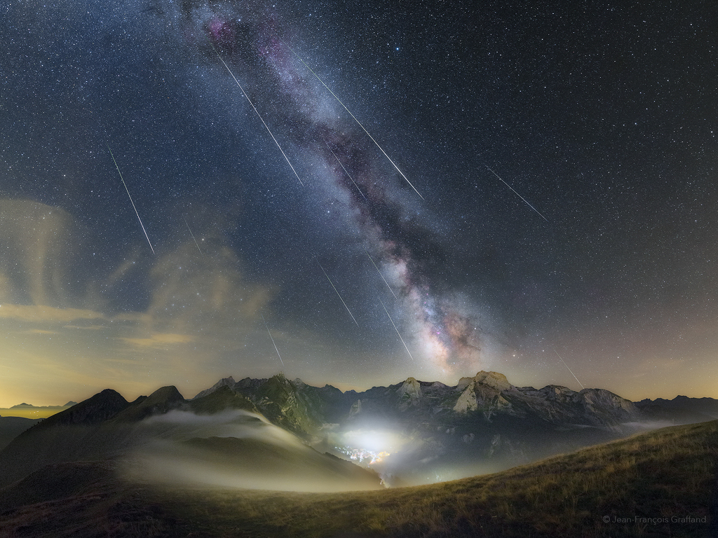 Perseids over the Pyrenees