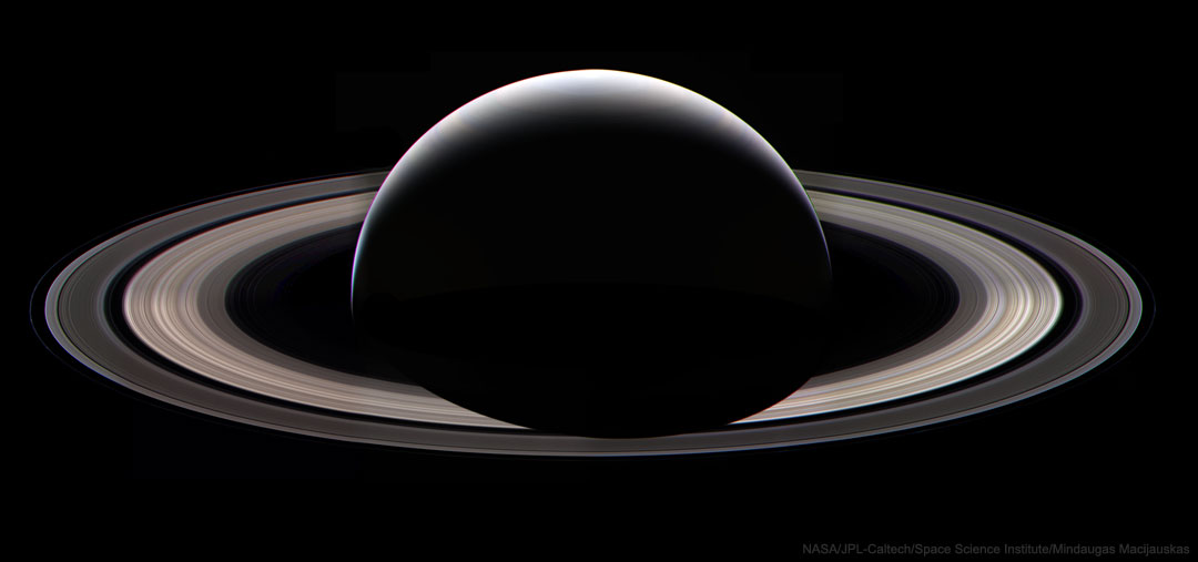 Cassinis Last Ring Portrait at Saturn