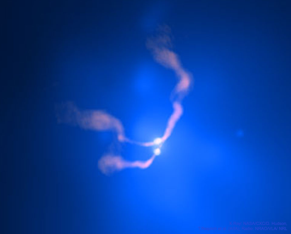 Two Black Holes Dancing in 3C 75