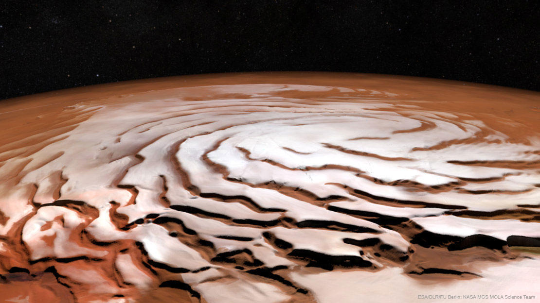 North pole of mars
