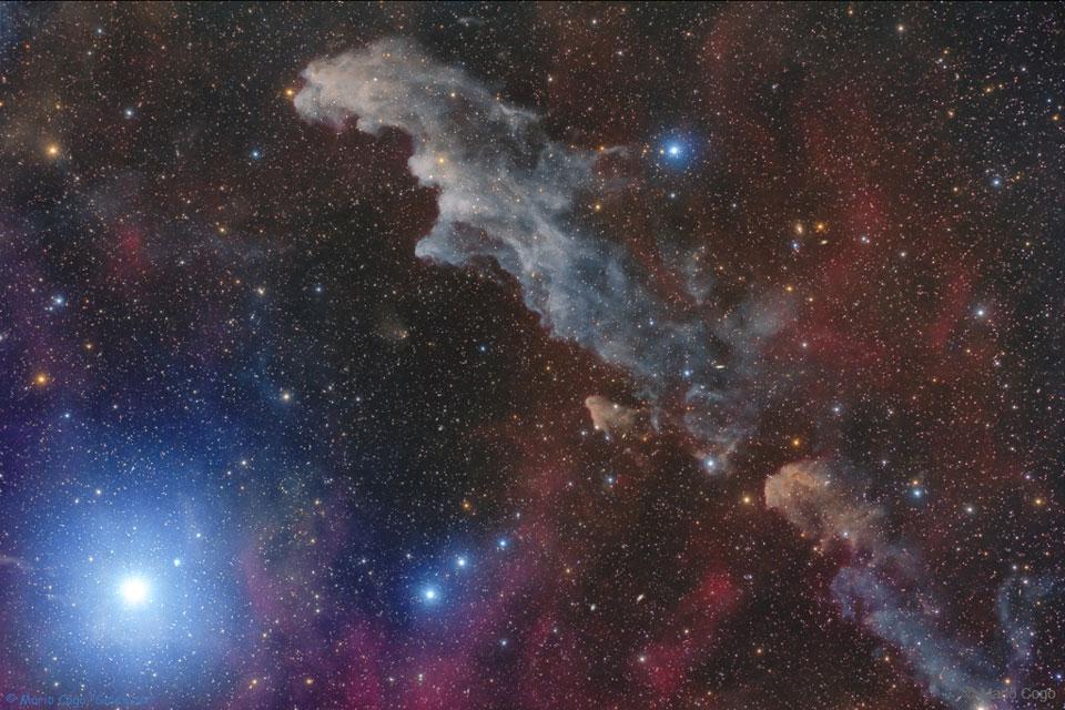 Rigel a mlhovina Hlava čarodějnice