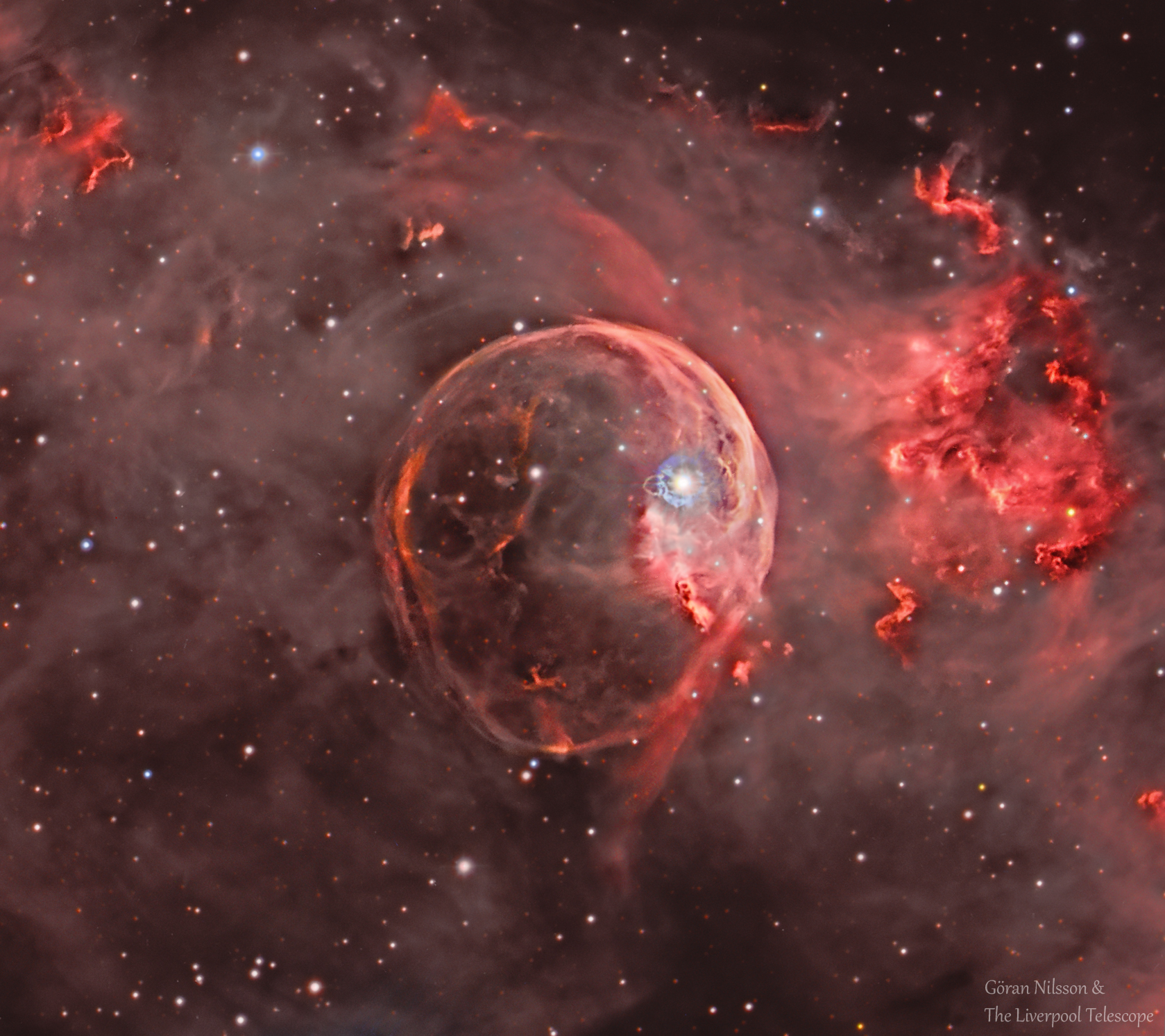 Apod 2018 february 5 ngc 7635 the bubble nebula expanding clicking on the picture will download the highest resolution version available thecheapjerseys Image collections
