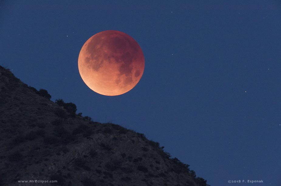 Eclipse de puesta lunar