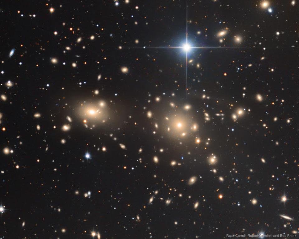 Kupa galaxií ve Vlasech Bereniky