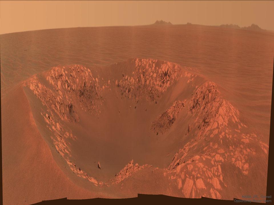 Kráter Intrepid na Marsu z Opportunity