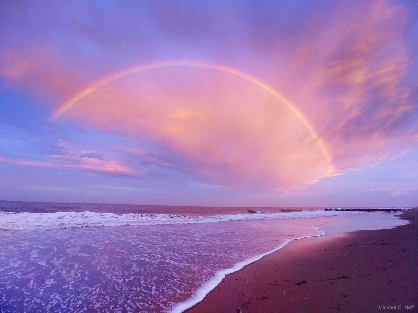 [ASTRONOMIA]   Red Cloudbow over Delaware