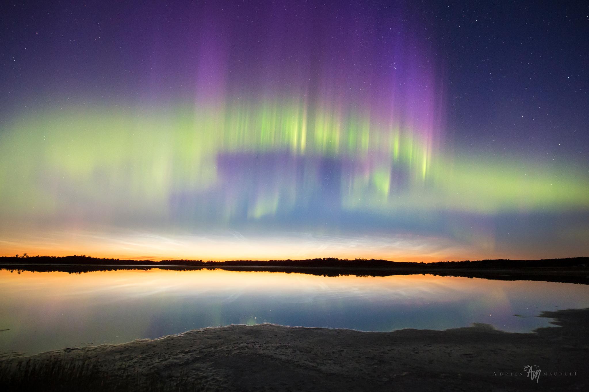 Luces del norte y nubes noctilucientes