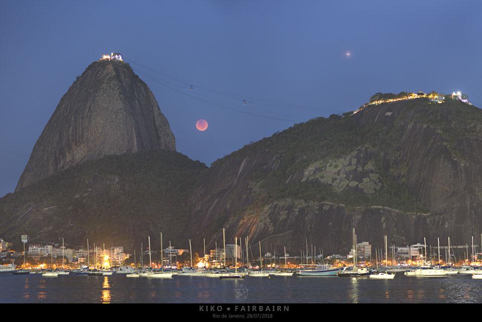 Eclipse lunar sobre Río