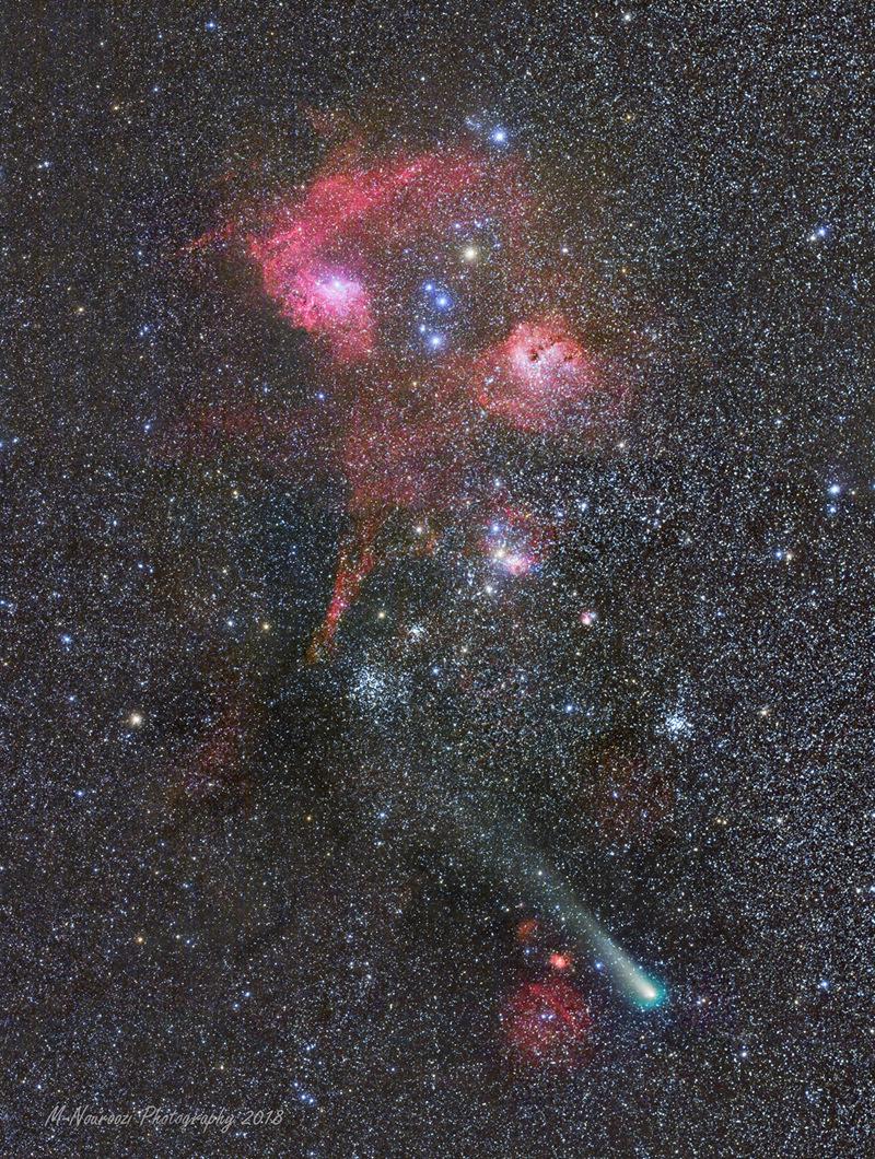 Cometa, conglomerados y nebulosas