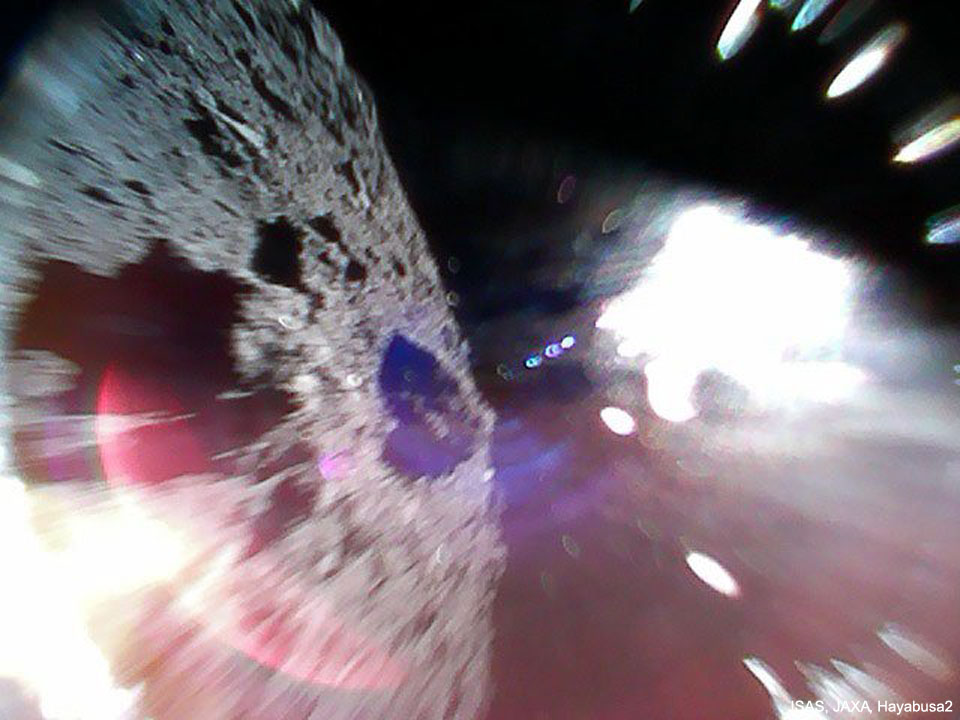 Rover 1A Hops on Asteroid Ryugu