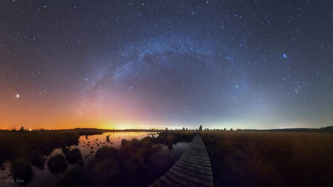 La Vía Láctea de verano a invierno