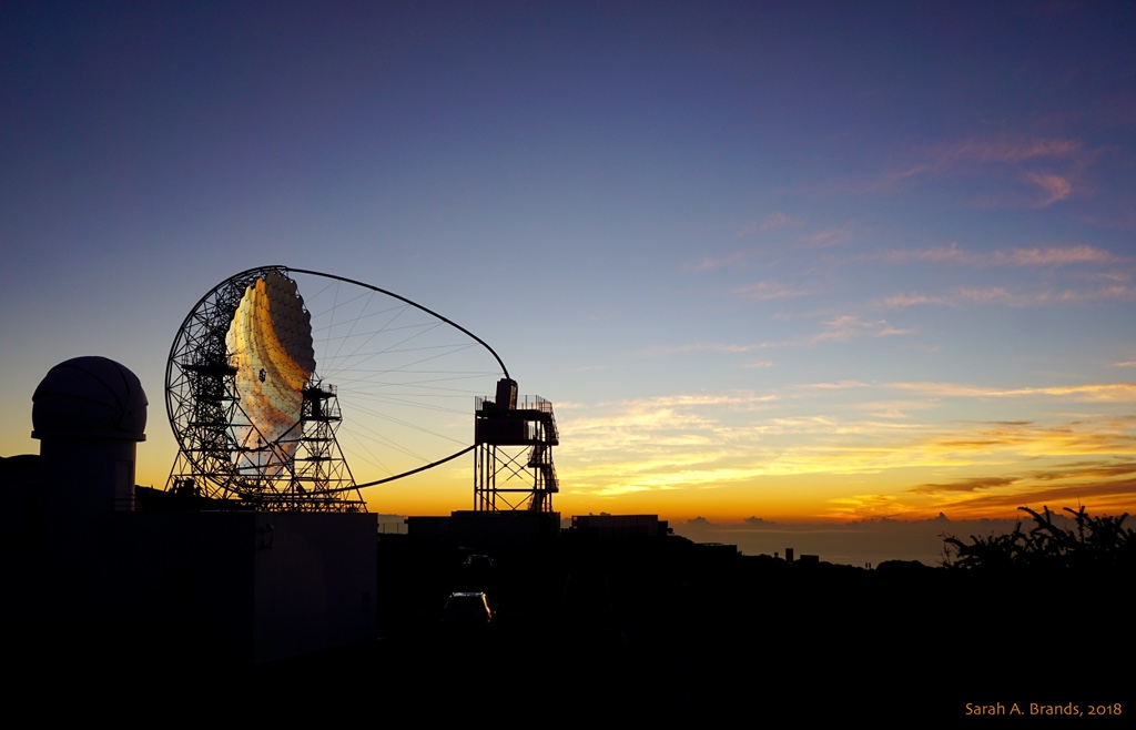 Cherenkov Telescope at Sunset