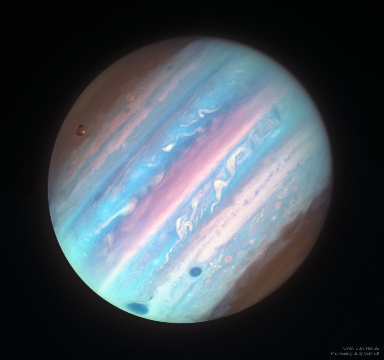 apod 2018 october 16 jupiter in ultraviolet from hubble