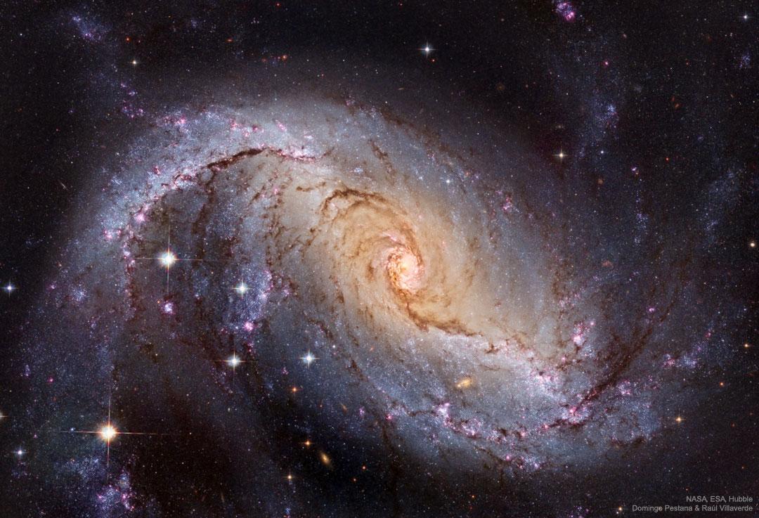 NGC 1672: Galaxia espiral barrada de Hubble
