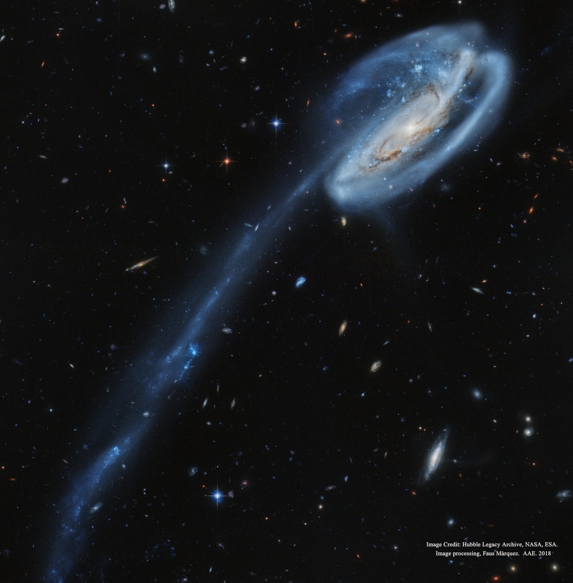 2018 December 11 - Arp 188 and the Tadpole's Tail