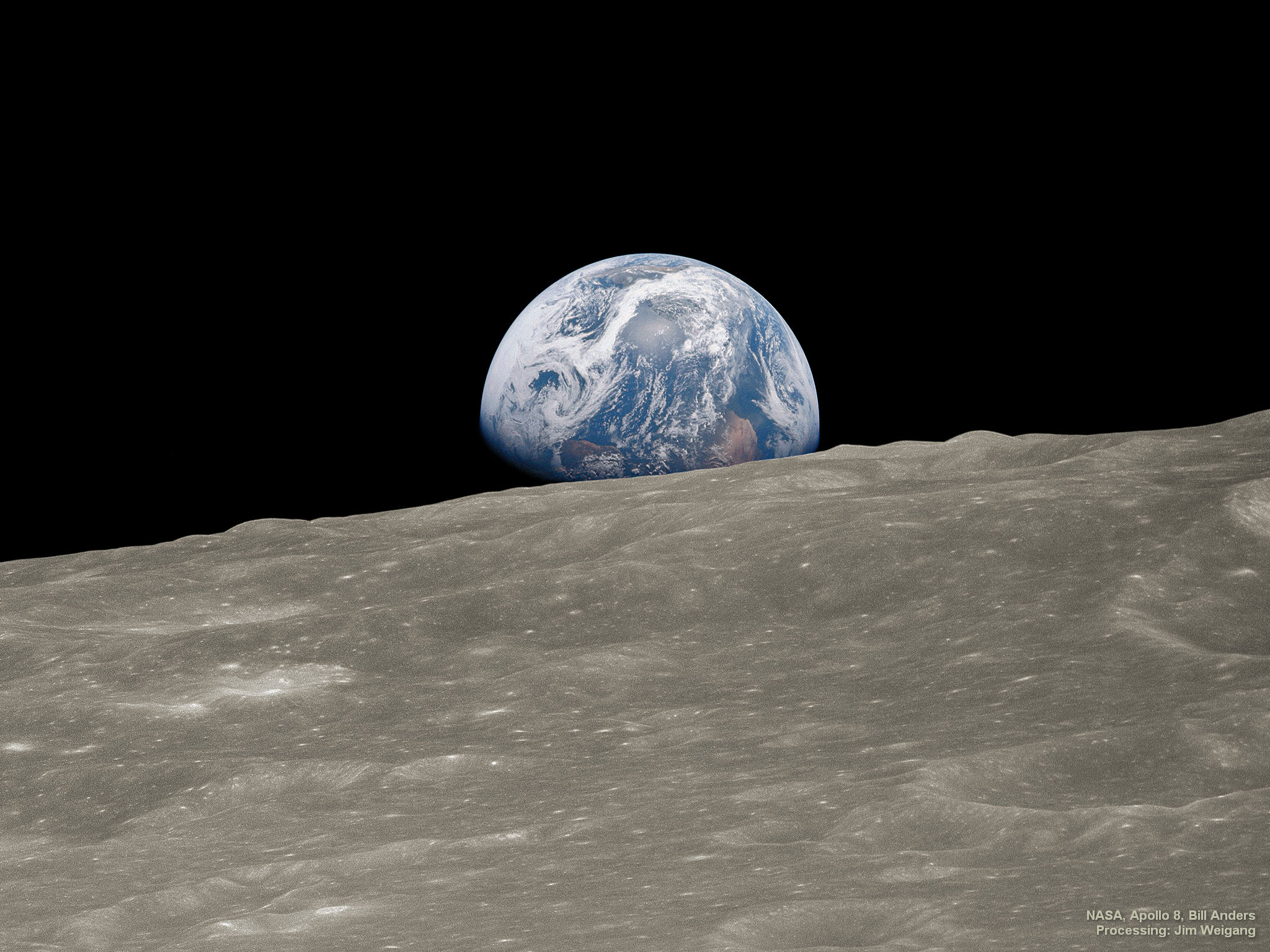 APOD: 2018 December 24 - Earthrise 1: Historic Image Remastered