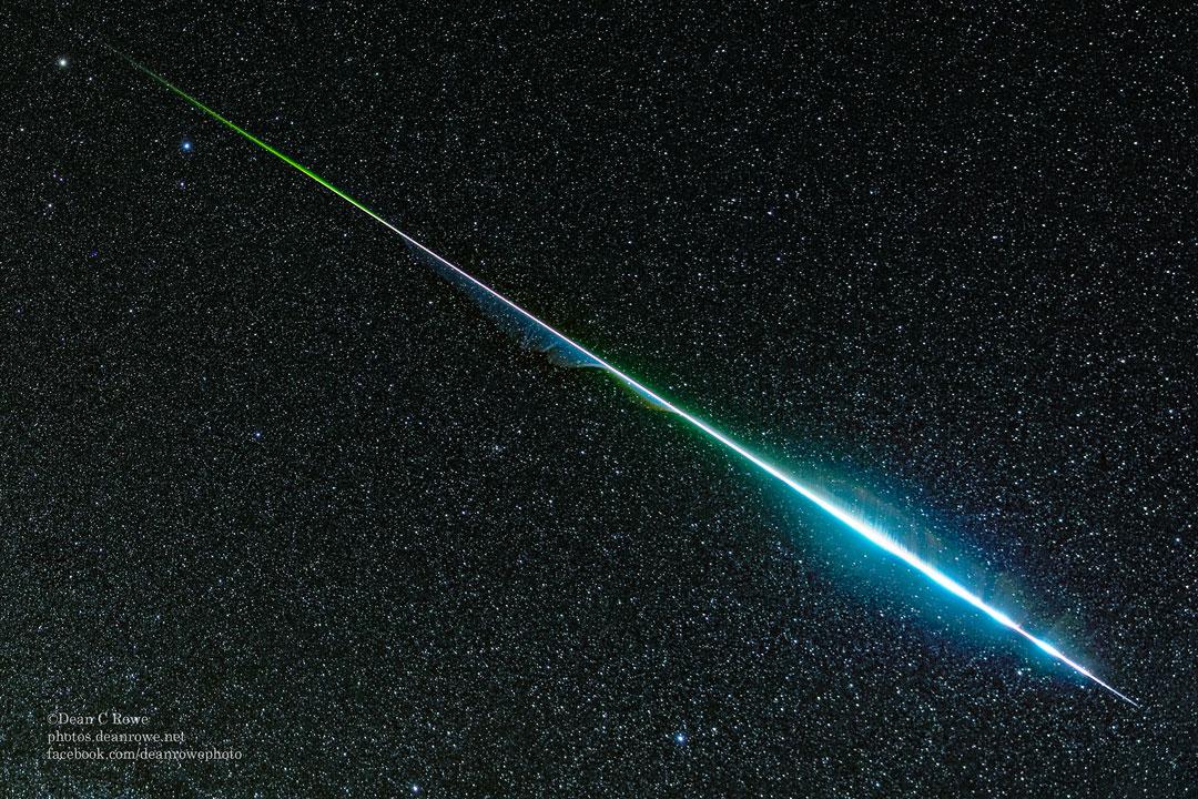 Un meteorito gemínido arcoiris