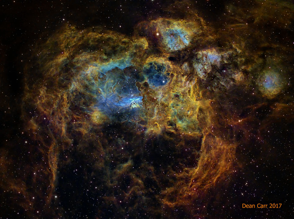 NGC 6357: La Nebulosa de la Langosta